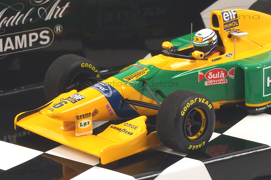 Benetton Ford B193B GP Great Britain 1993 Riccardo Patrese Minichamps 1:43 417930006