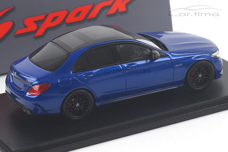 Mercedes-AMG C63S blau Spark 1:43 S4913
