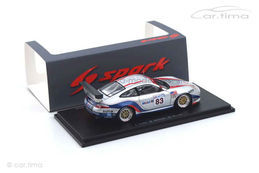 Porsche 911 (996) GT3 R 24h Le Mans 2000 Luhr/Müller/Wollek Spark 1:43 S5525
