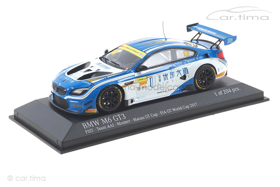 BMW M6 GT3 Macau GT Cup 2017 Chaz Mostert Minichamps 1:43 437172690