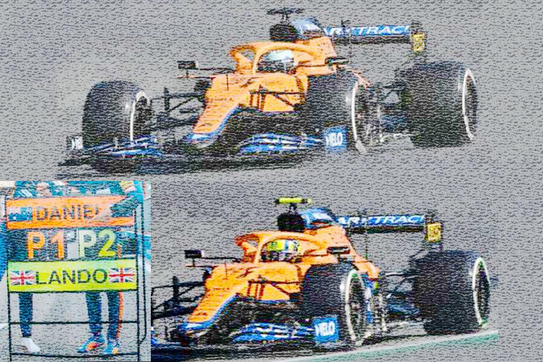 Set McLaren MCL35M Doppelsieg GP Italien 2021 Ricciardo/Norris Spark 1:43 S7694