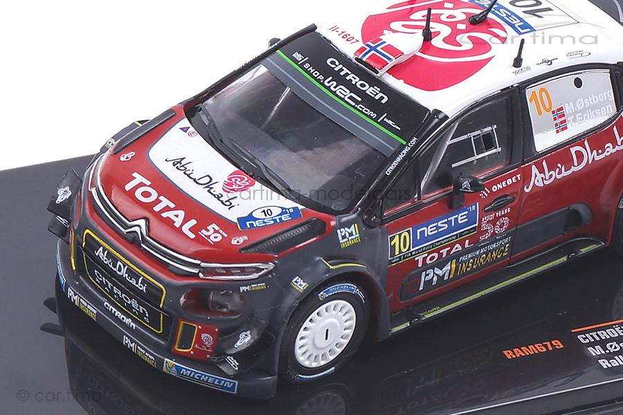 Citroen C3 WRC Finnland Rallye 2018 Ostberg/Eriksen IXO 1:43 RAM679