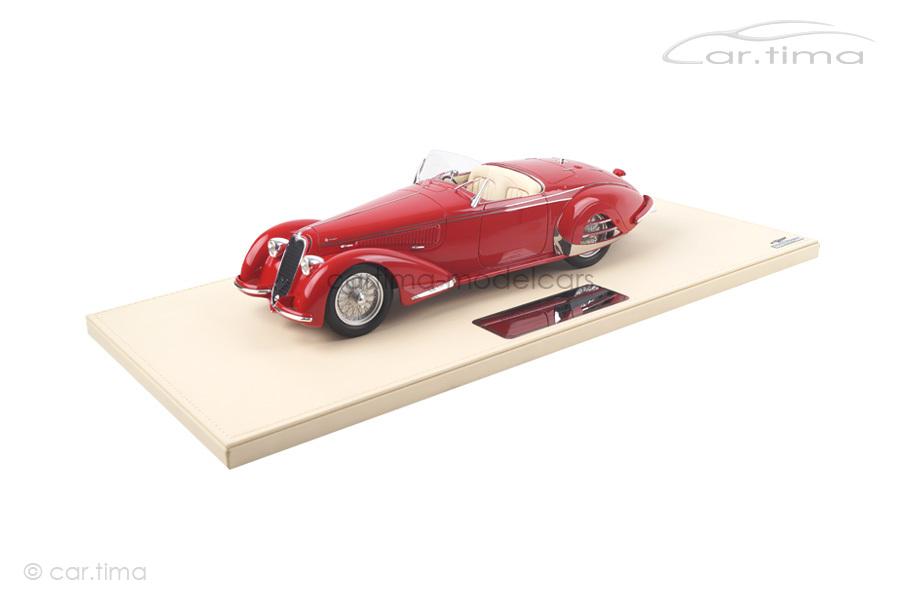 Alfa Romeo 8C 2900B Spider Carrozzeria Touring Superleggera rot TSM 1:18 TSMCE161803