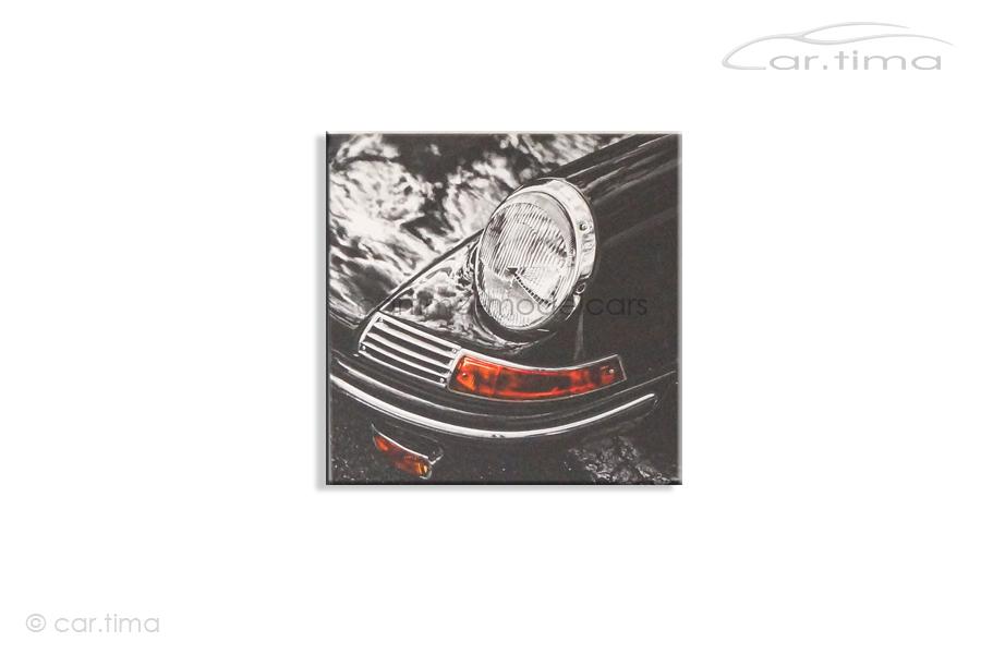 Kunstdruck auf Leinwand/Keilrahmen Porsche 911 E schiefergrau 45x45 cm