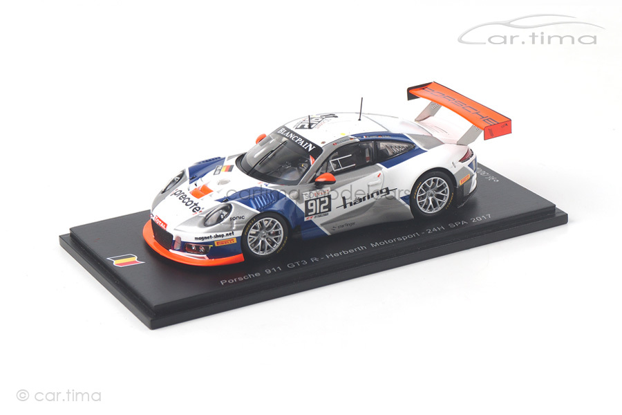 Porsche 911 (991) GT3 R 24h Spa 2017 Allemann/Bohn/Müller/Jaminet Spark 1:43 SB152