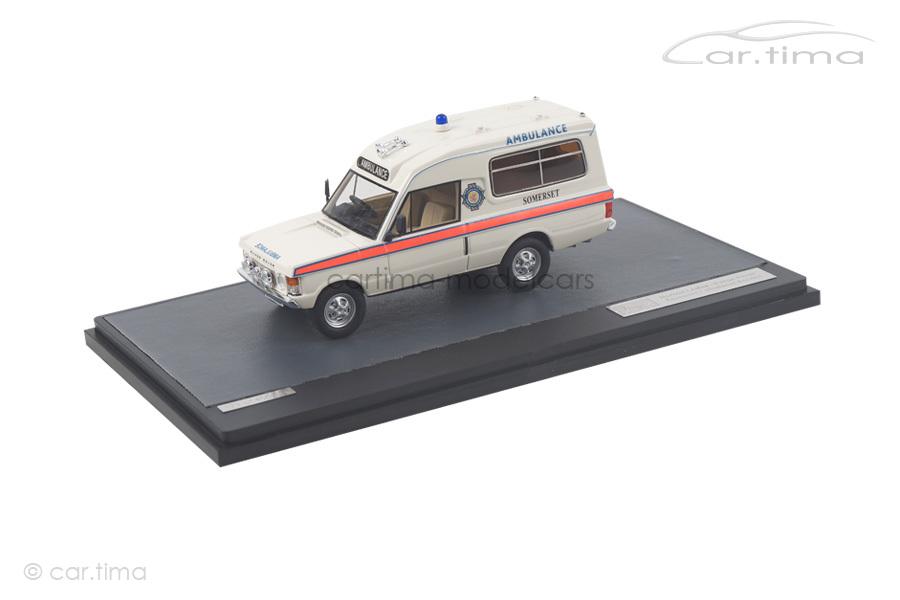 Range Rover Herbert Lomas Somerset Ambulance Service 1972 weiß Matrix Scale Models 1:43 MX11701-031