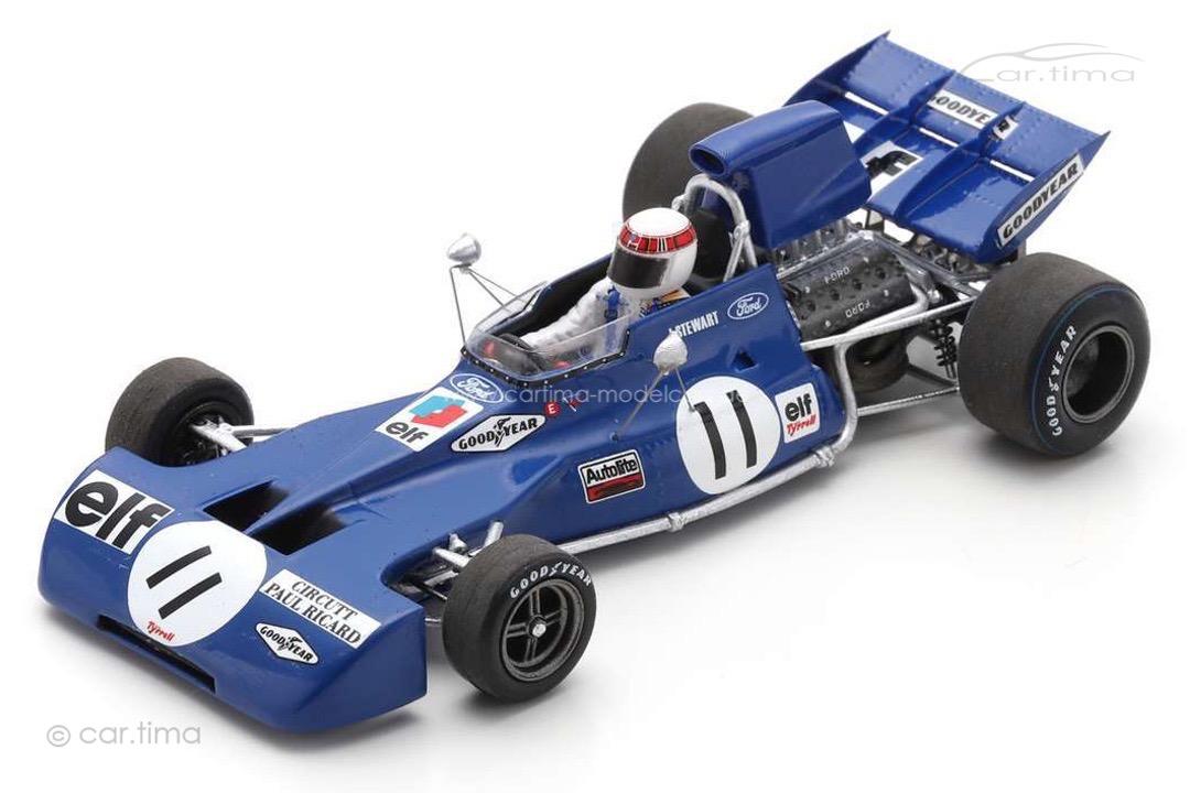 Tyrrell 003 Winner GP Frankreich 1971 Jackie Stewart Spark 1:43 S7232