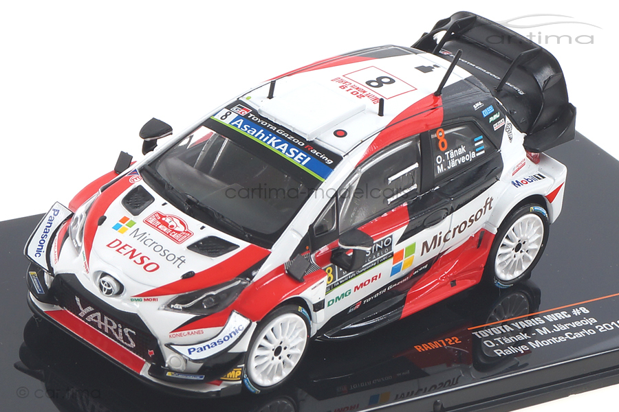 Toyota Yaris WRC Rallye Monte Carlo 2019 Tänak/Järveoja IXO 1:43 RAM722
