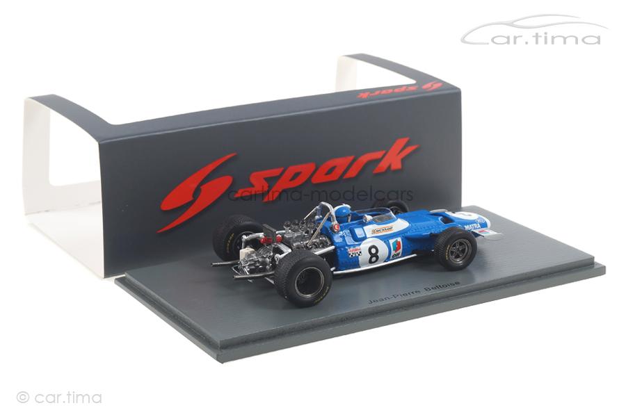 Matra MS80 GP Monaco 1969 Jean-Pierre Beltoise Spark 1:43 S7188