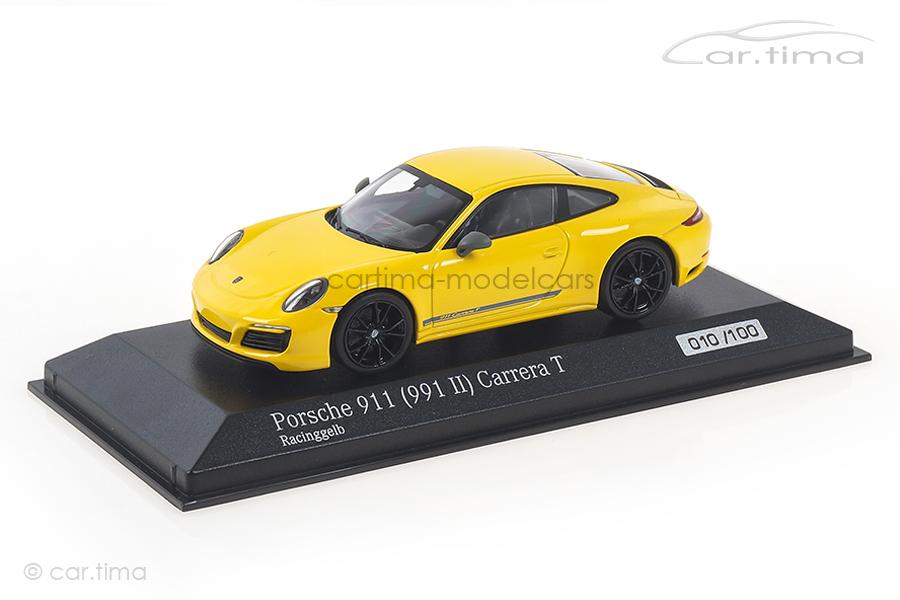 Porsche 911 (991 II) Carrera T Racinggelb/Rad schwarz Minichamps 1:43 CA04319001B