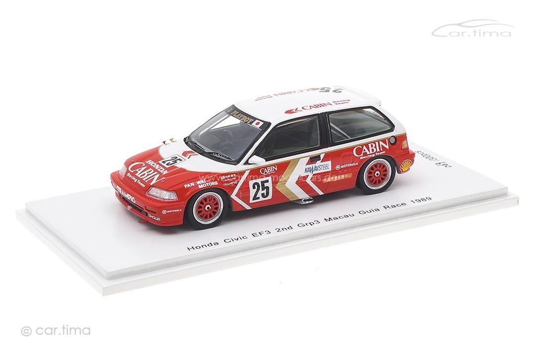Honda Civic EF3 Macau 1989 Yasuo Muramatsu Spark 1:43 SA127