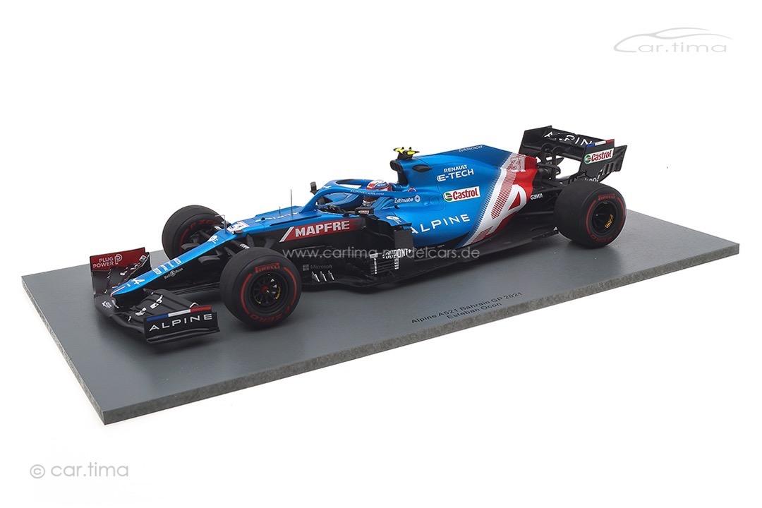 Alpine A521 GP Bahrain 2021 Esteban Ocon Spark 1:18 18S581