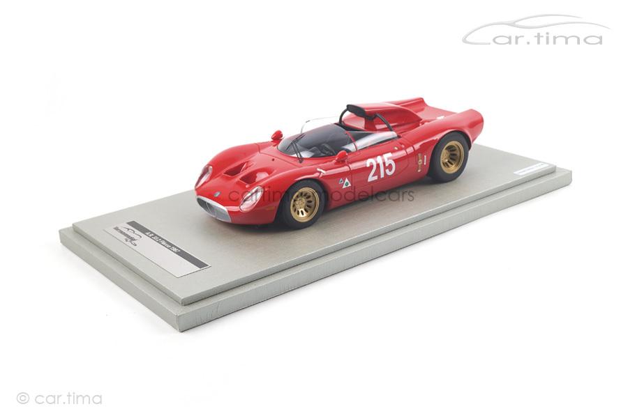 Alfa Romeo 33.2 Periscopio Flèron Belgien 1967 Zeccoli Tecnomodel 1:18 TM18-49E