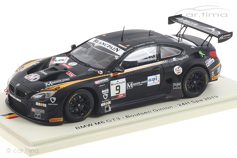 BMW M6 GT3 24h Spa 2019 Bonafede/Maris/Ojjeh/Rostan Spark 1:43 SB273