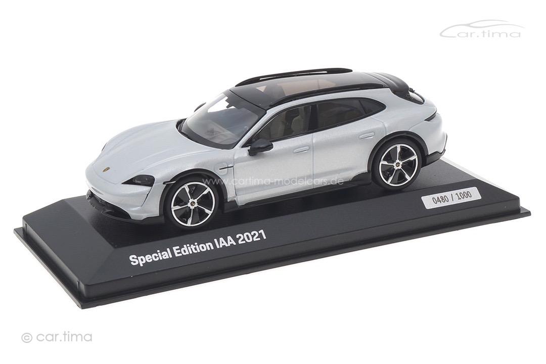 Porsche Taycan Turbo S Cross Turismo Eisgraumet. IAA 2021 Minichamps 1:43 WAP0207880NTTC