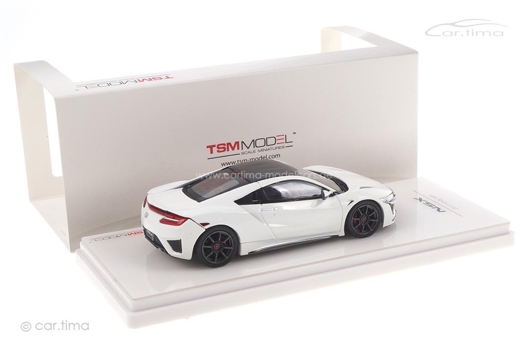 Honda NSX 2017 (RHD) 130R White / Black wheels TSM 1:43 TSM430262