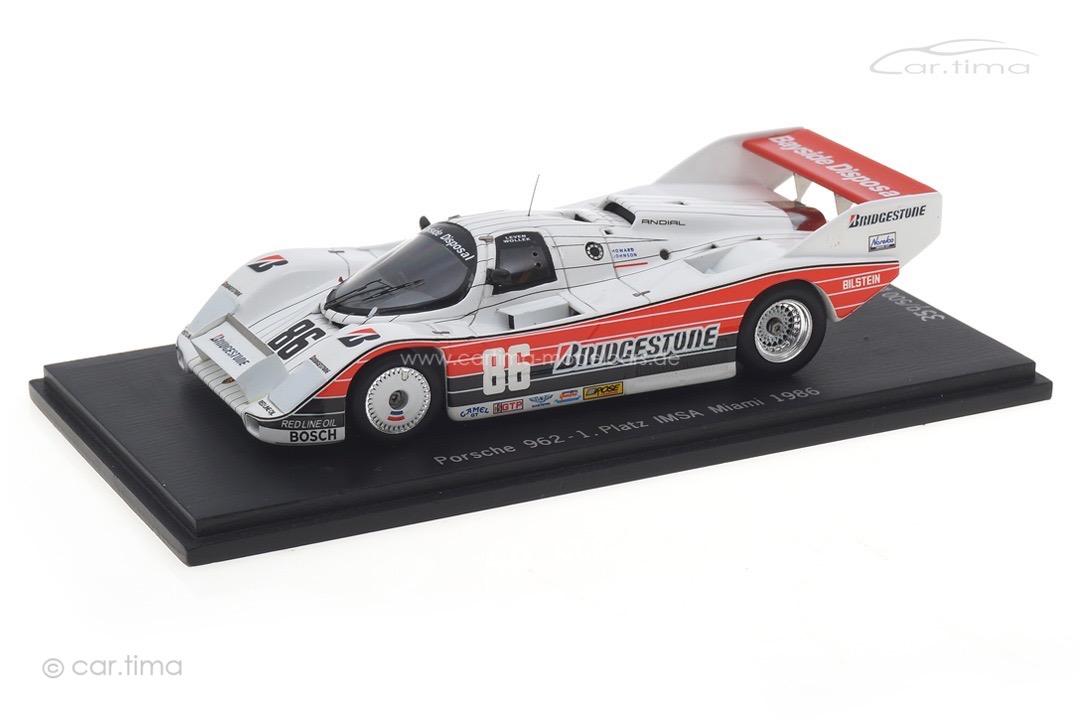 Porsche 962 Winner IMSA Miami 1986 Barilla/Wollek Spark car.tima EXCLUSIVE 1:43 CA-WOL-13