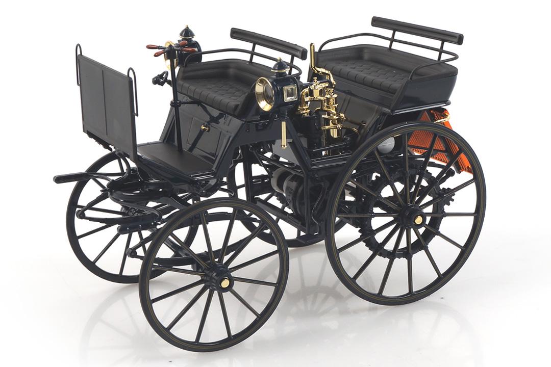 Daimler Motorkutsche 1886 dunkelblau Norev 1:18 183700