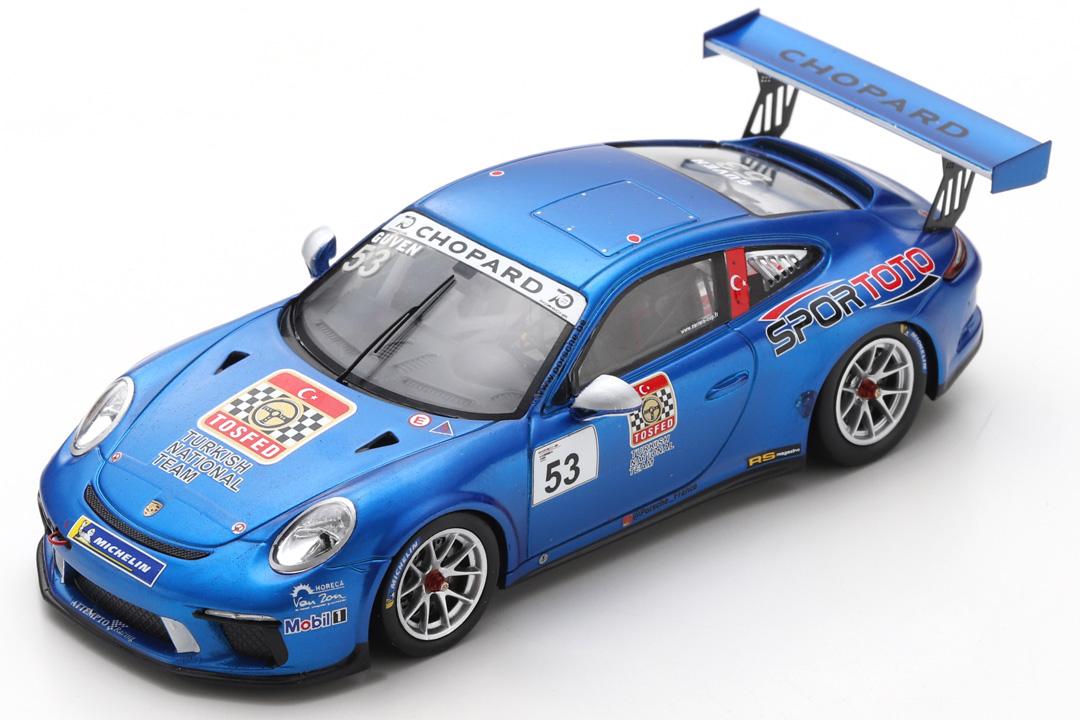 Porsche 911 (991) GT3 Cup Champion Carrera Cup Frankreich 2018 Güven Spark 1:43 SF140
