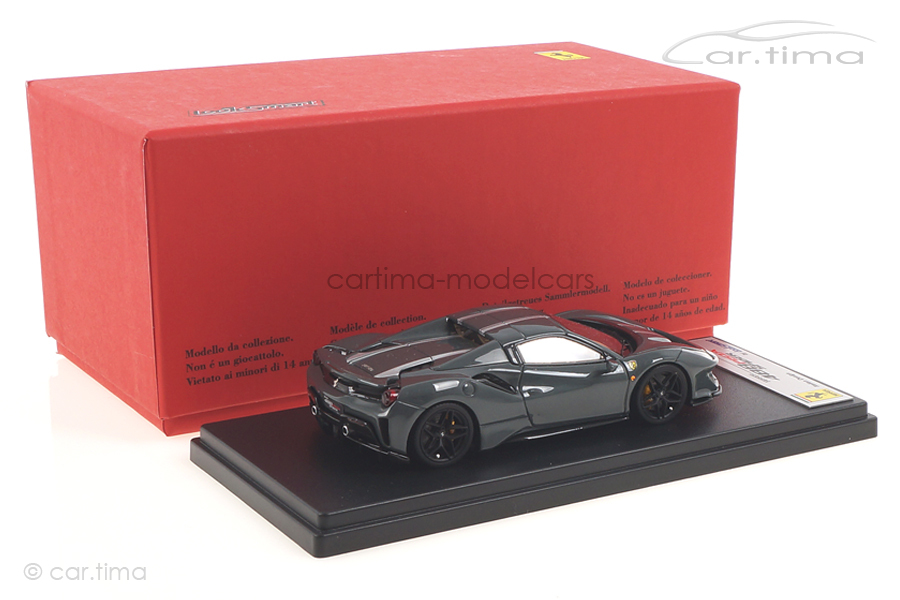 Ferrari 488 Pista Spider Hard Top Grigio Medio/Argento Nürburgring LookSmart 1:43 LS496HTC