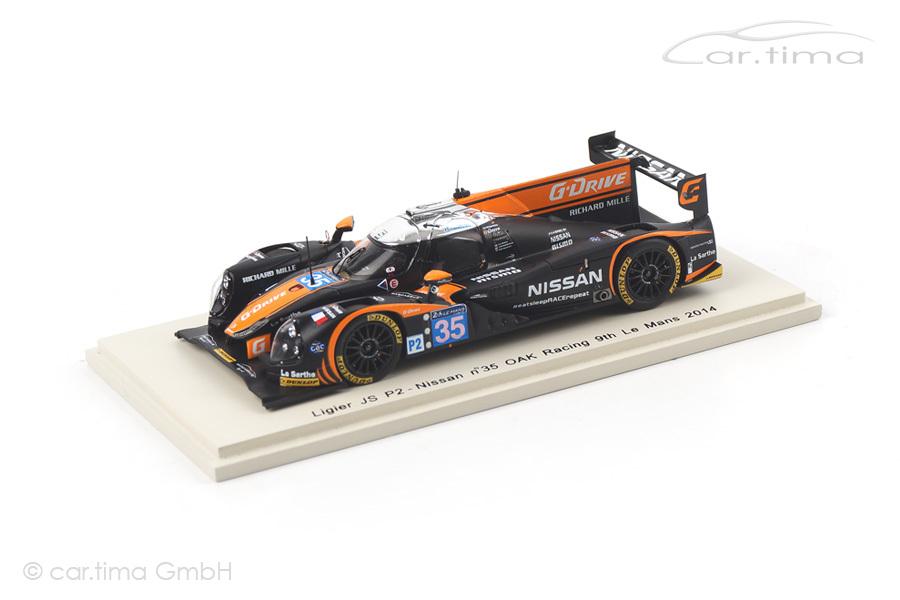 Ligier JS P2-Nissan 24h Le Mans 2014 Brundle/Mardenborough/Shulzhitskiy Spark 1:43 S4216