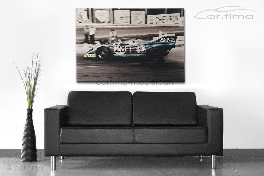 Kunstdruck auf Leinwand/Keilrahmen Porsche 917 K Martini Racing 115x80 cm