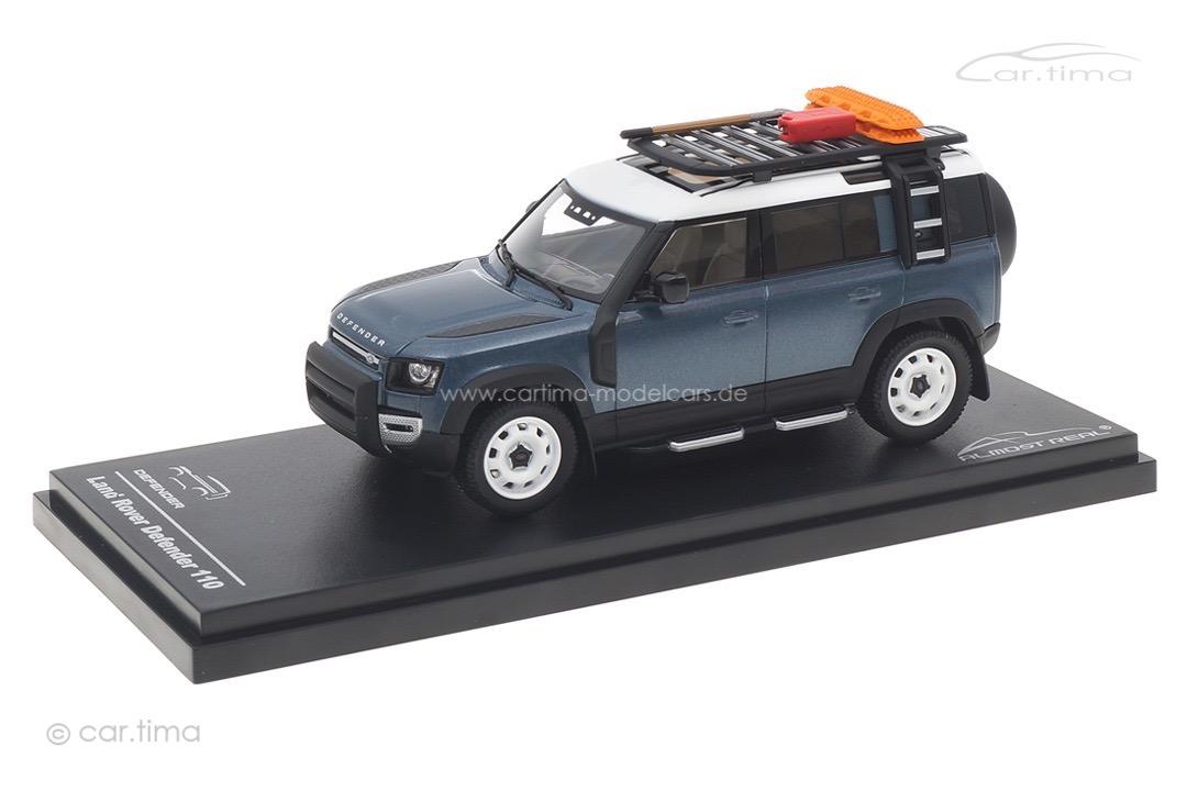 Land Rover Defender 110 2020 Tasman Blue Almost Real 1:43 410802