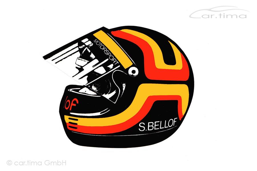 Aufkleber/Sticker Stefan Bellof Helm 8 cm