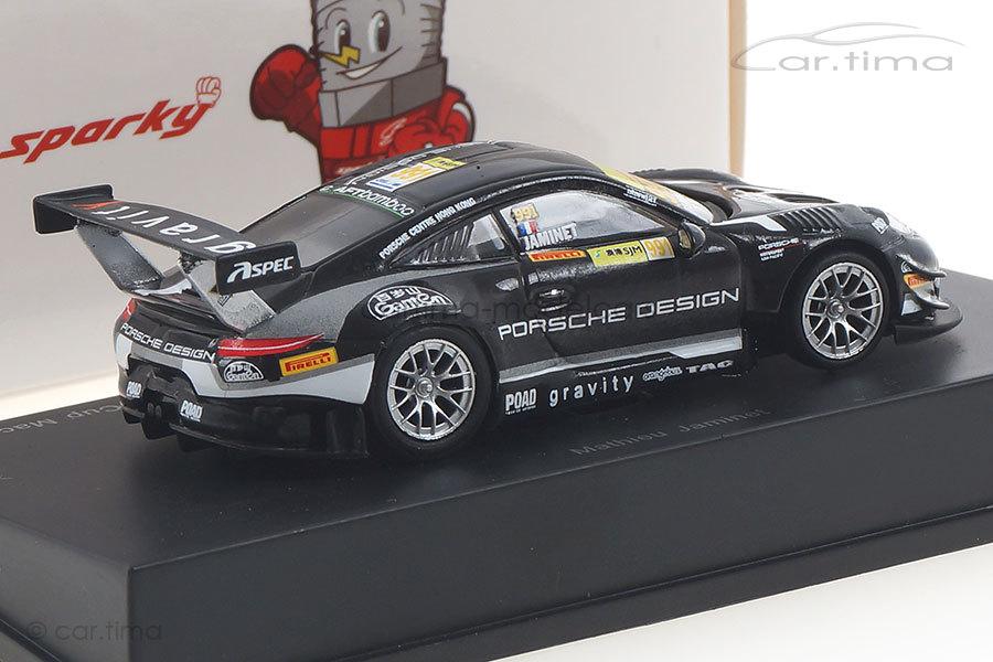 Porsche 911 GT3 R Macau 2018 Mathieu Jaminet Spark 1:64 Y159