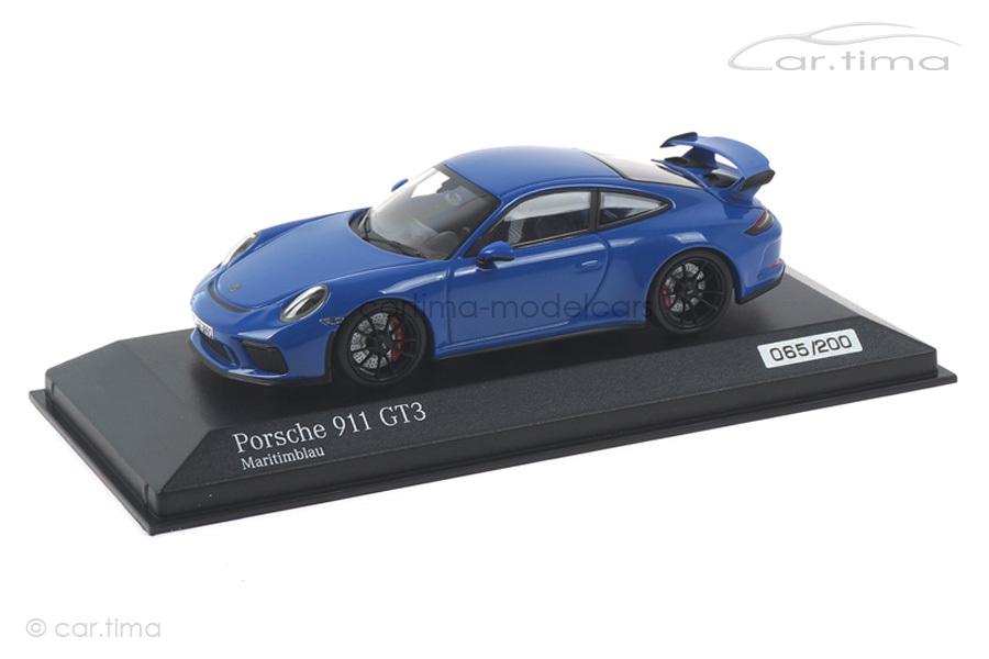 Porsche 911 (991 II) GT3 PTS Maritimblau Minichamps 1:43 CA04318010