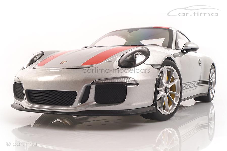 Porsche 911 (991) R GT-silber/Dekorstreifen rot Minichamps 1:12 125066321
