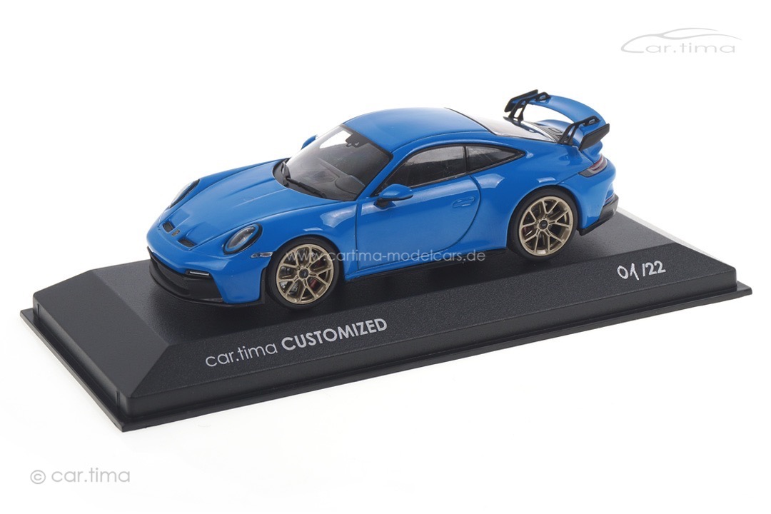Porsche 911 (992) GT3 Sharkblue/Rad Neodyme Minichamps car.tima CUSTOMIZED 1:43