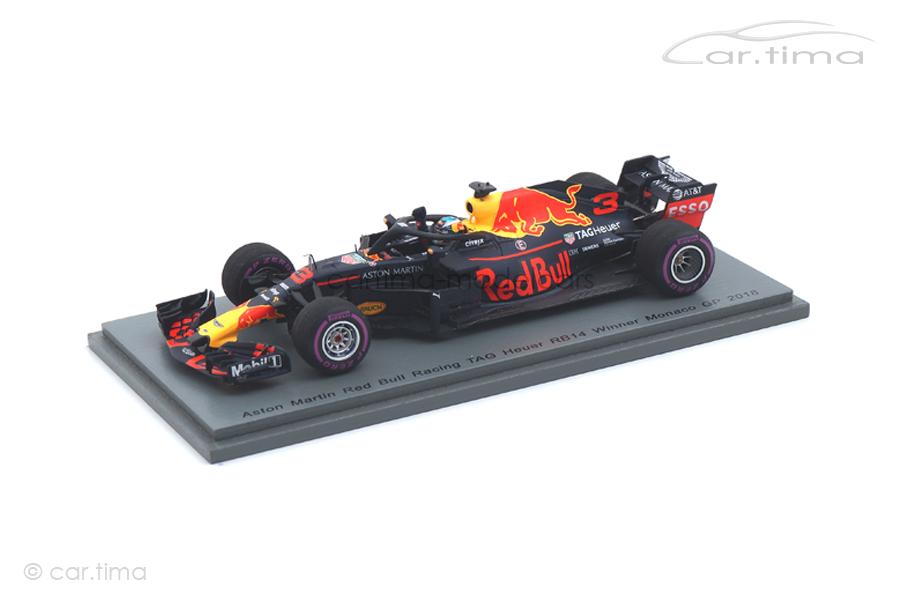 Red Bull Racing RB14 Winner GP Monaco 2018 Daniel Ricciardo Spark 1:43 S6064