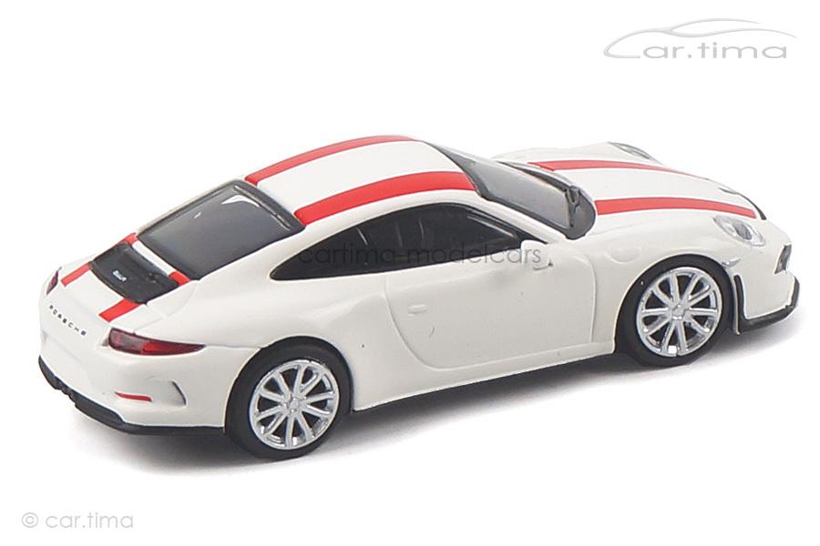 Porsche 911 (991) R weiß/Dekorstreifen rot Minichamps 1:87 870066220