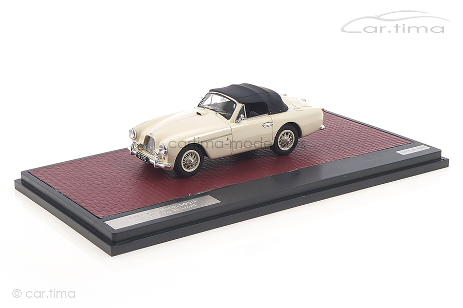 Aston Martin DB2/4 MKII DHC by Tickford 1955 weiß Matrix 1:43 MX40108-062