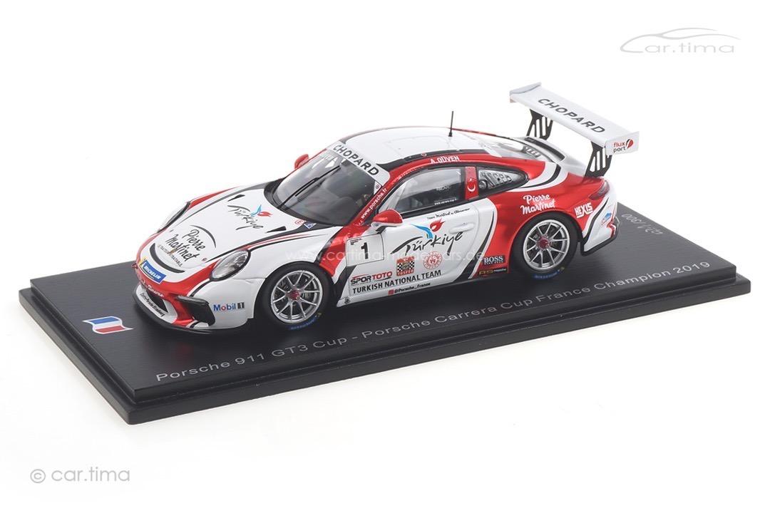 Porsche 911 GT3 Cup Champion Carrera Cup France 2019 Ayhancan Güven Spark 1:43 SF108