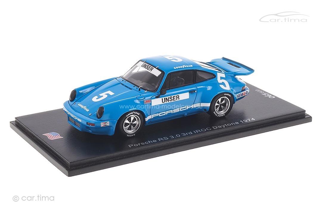 Porsche 911 RS 3.0 IROC Daytona 1974 Bobby Unser Spark 1:43 US146