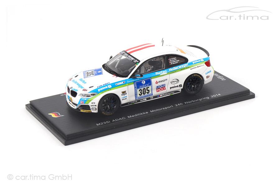 BMW M235i 24h Nürburgring 2014 Fischer/Hollerweger/Stezelow Spark 1:43 SG163