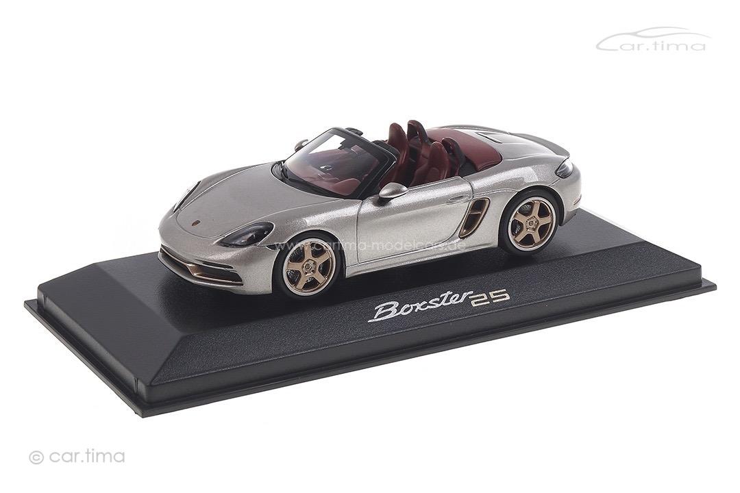 """Porsche Boxster GT-silbermet. """"25 Jahre Boxster"""" Minichamps 1:43 WAP0202020MM7Z"""