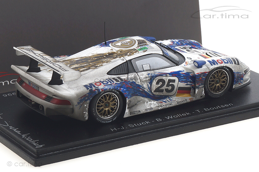 Porsche 911 GT1 24h Le Mans 1996 Boutsen/Stuck/Wollek car.tima FINISH LINE 1:43