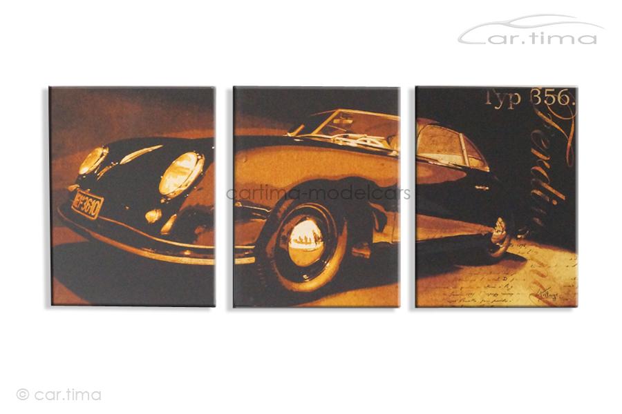 Kunstdruck auf Leinwand/Keilrahmen Porsche 356 Pre-A Gmünd 136,5x60 cm