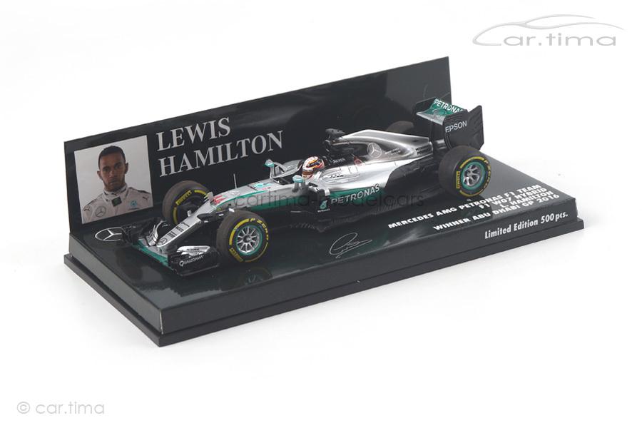 Mercedes AMG Petronas F1 W07 Winner Abu Dhabi GP 2016 Hamilton Minichamps 1:43 417160744