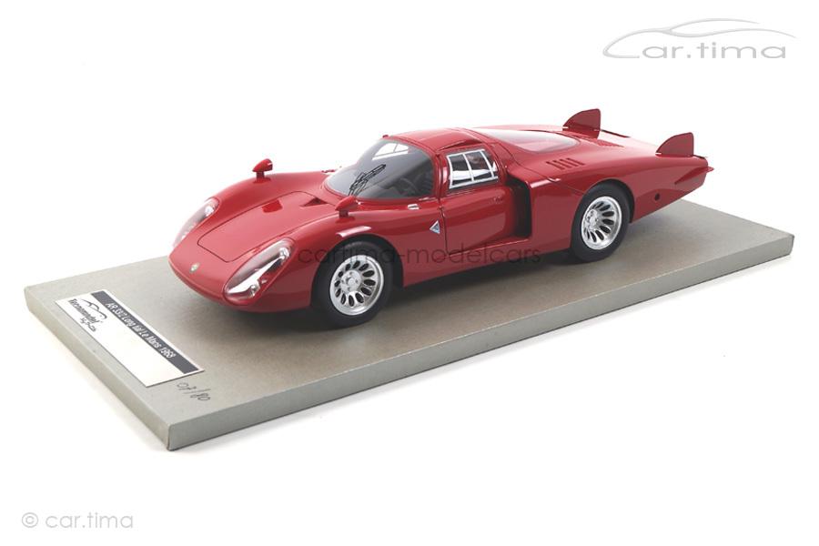 Alfa Romeo 33/2 LongTail  24h Le Mans 1968  Press Version Tecnomodel 1:18  TM18-08A