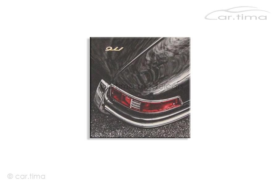 Kunstdruck auf Leinwand/Keilrahmen Porsche 911 Schiefergrau 45x45 cm