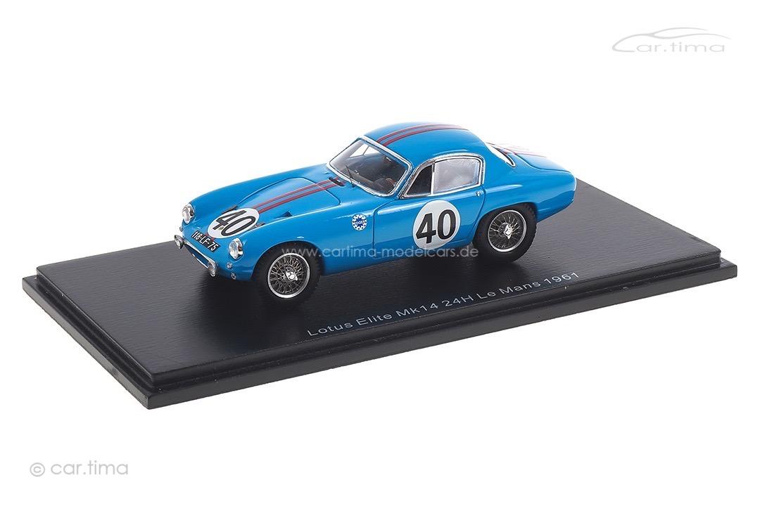 Lotus Elite MK14 24h Le Mans 1961 Kosselek/Massenez Spark 1:43 S8207
