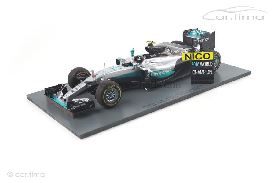 Mercedes-AMG F1 W07 GP Abu Dhabi World Champion 2016 Nico Rosberg Spark 1:18 18S250