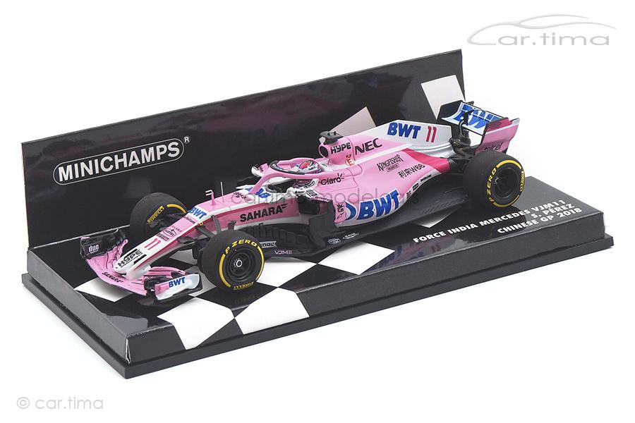 Force India F1 Team VJM11 Chinese GP 2018 Sergio Pérez Minichamps 1:43 417180011