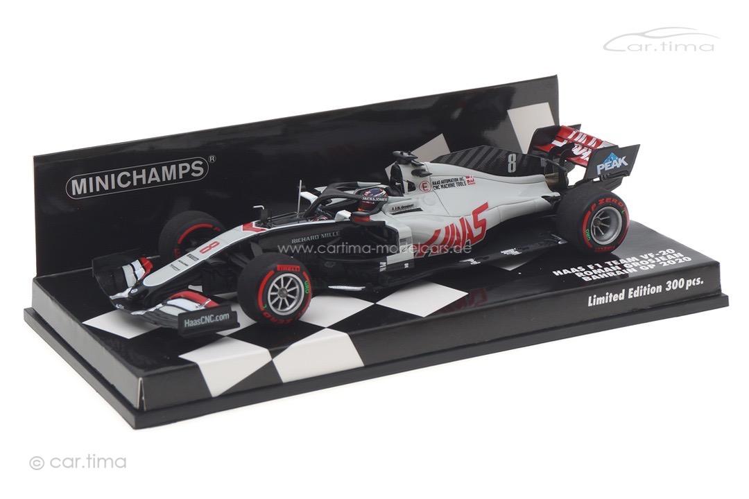 Haas F1 VF-20 GP Bahrain 2020 Romain Grosjean Minichamps 1:43 417201508
