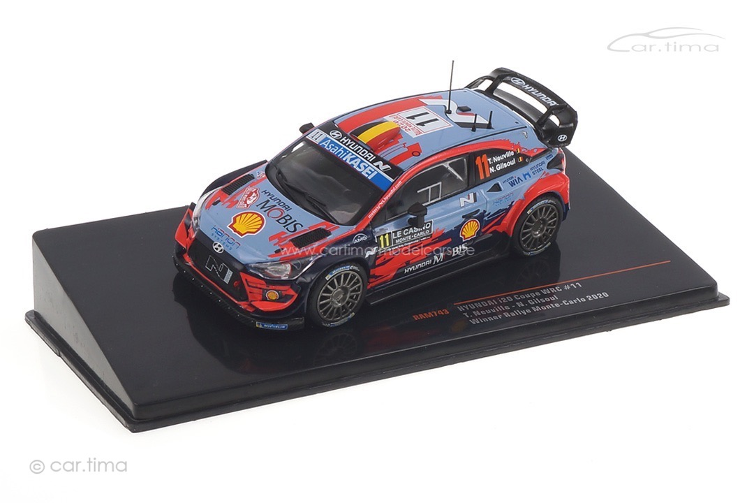 Hyundai i20 WRC Rallye Monte Carlo 2020 Neuville/Gilsoul IXO 1:43 RAM743