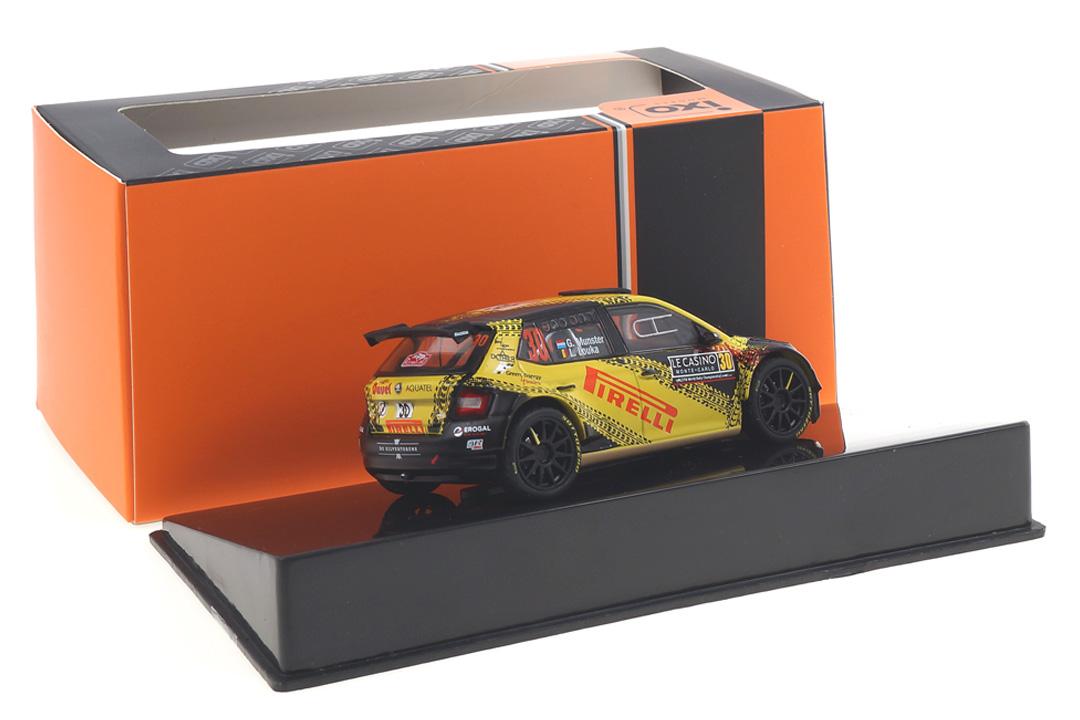 Skoda Fabia R5 Rallye Monte Carlo 2020 Munster/Louka IXO 1:43 RAM749